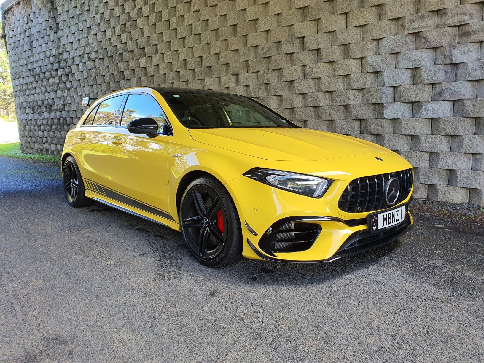 The bonkers Mercedes Benz A45 AMG S in yellow