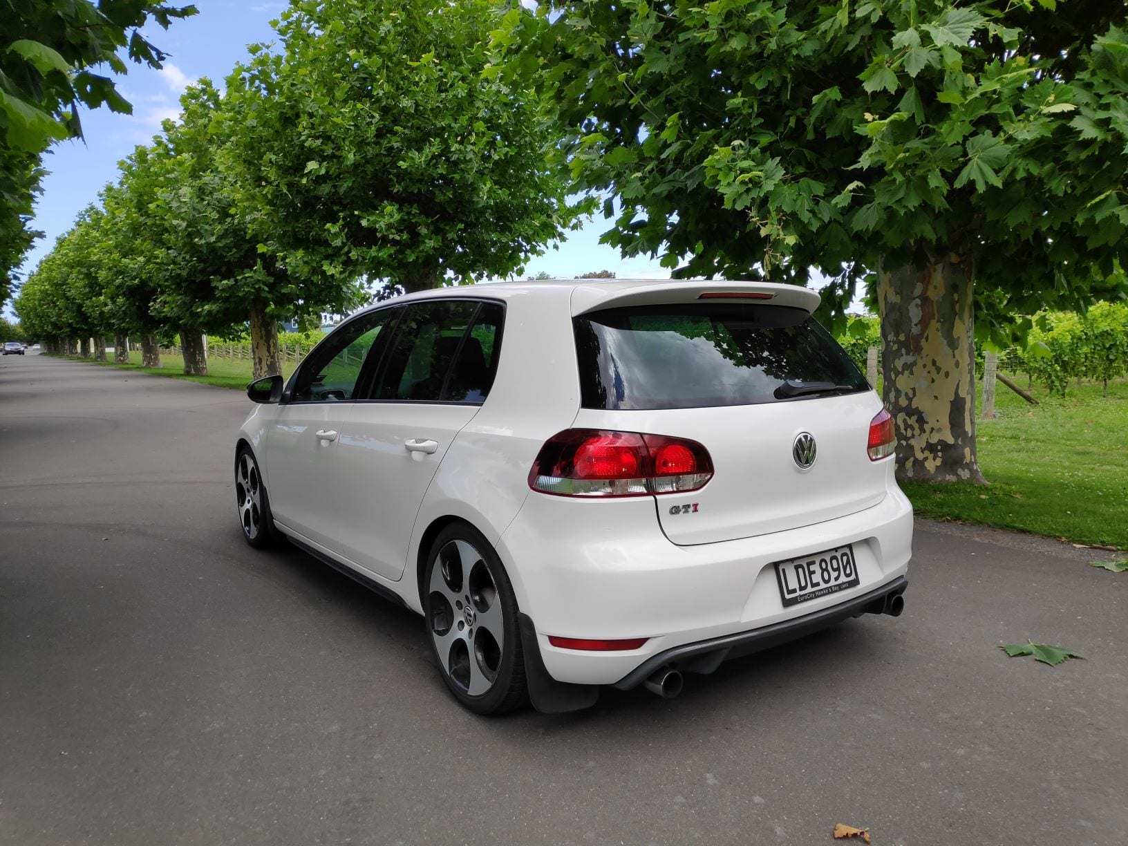 The magnificent mark 6 Volkswagen Golf GTI finished in candy white.