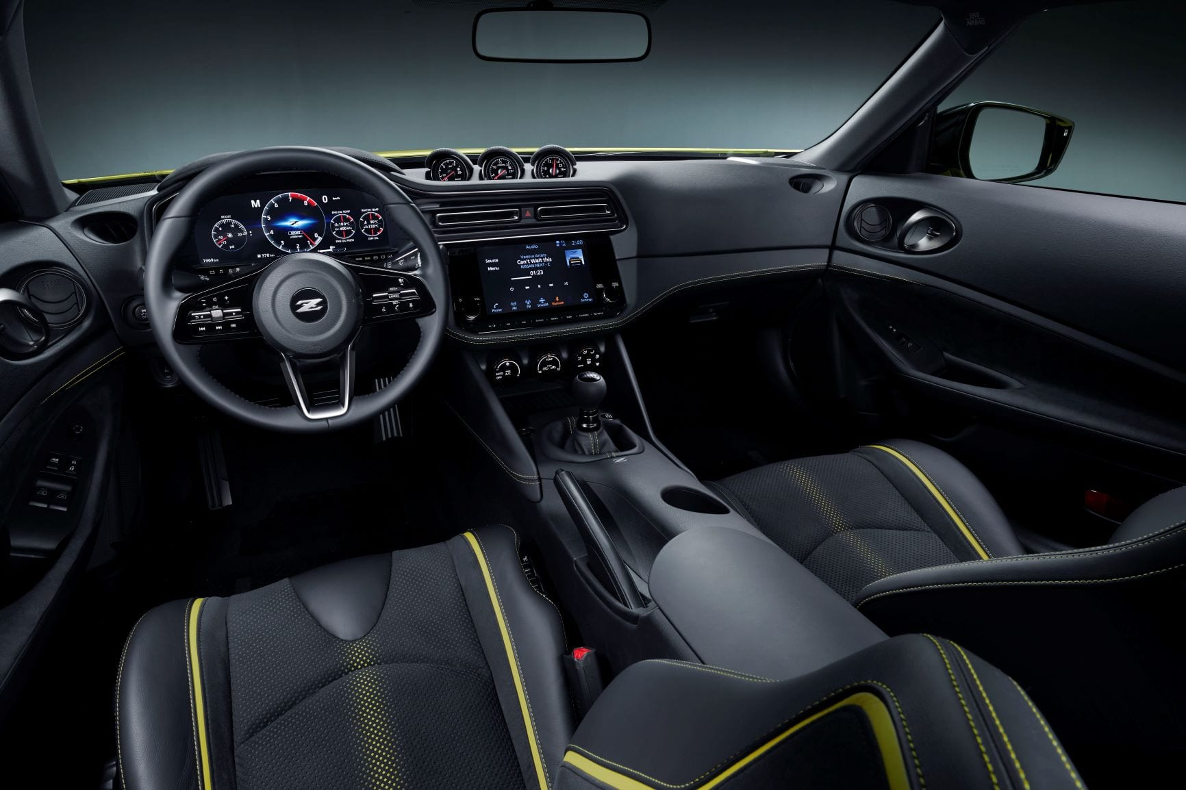 An interior shot of the Nissan Proto Z