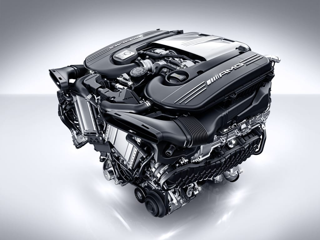 The outgoing Mercedes 4 litre twin turbo V8