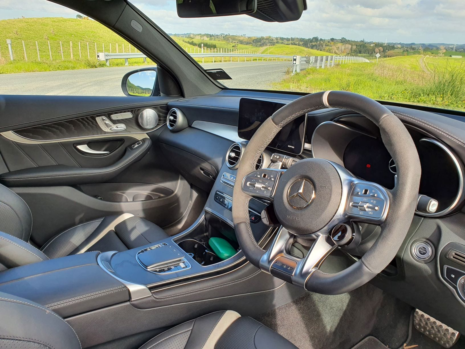 An shot of the interior of the GLC63 S
