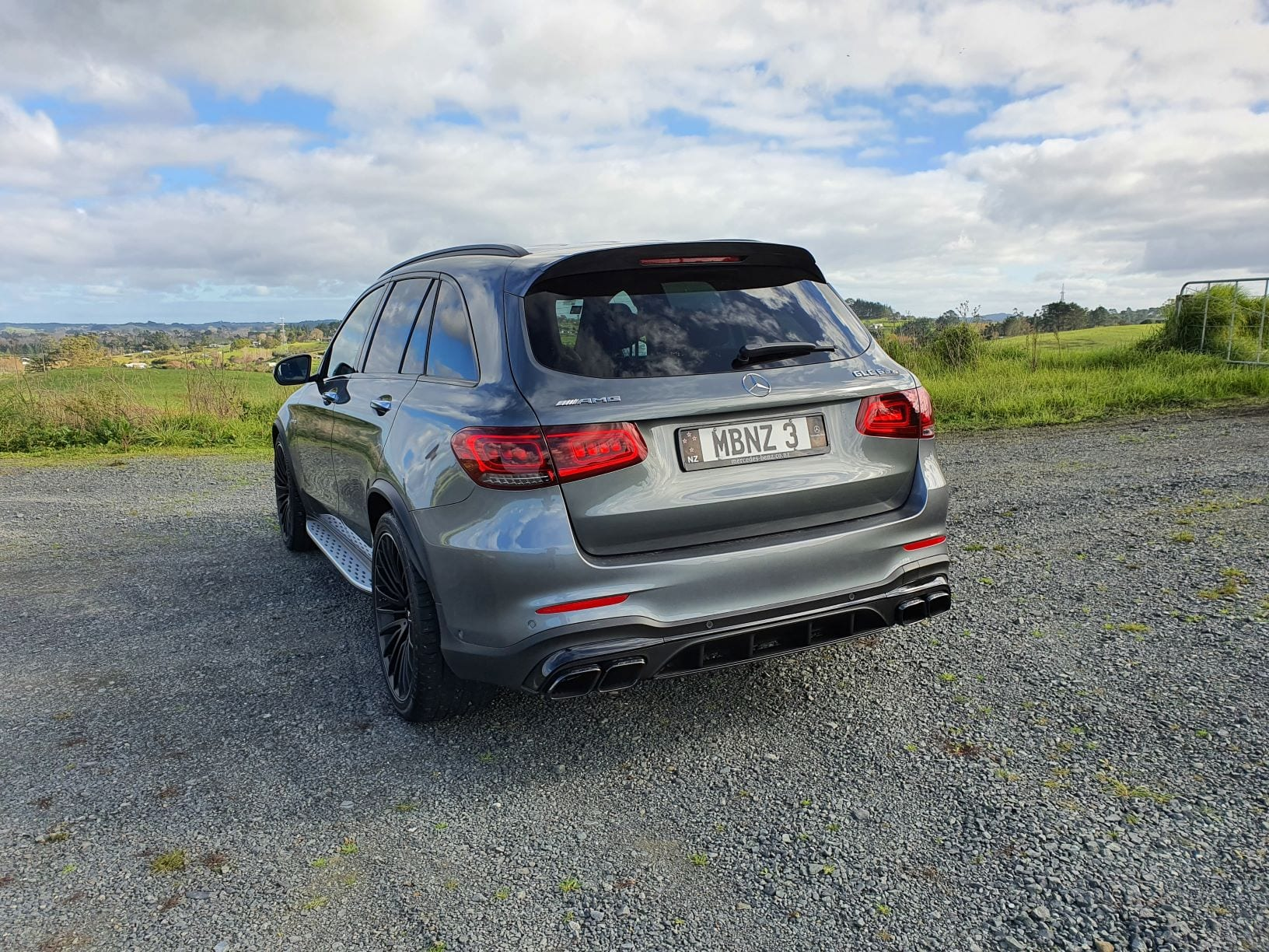 The GLC63 S looking over the valley