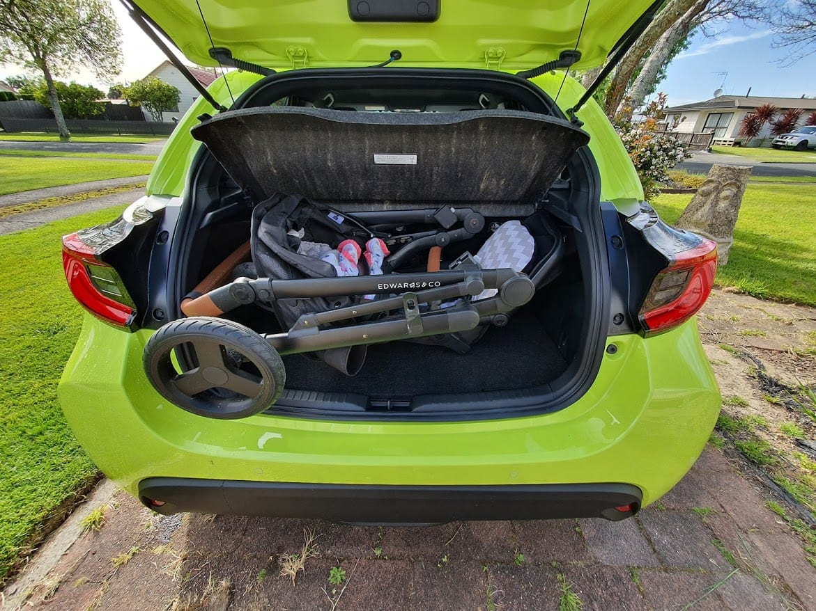 Edwards & Co Oscar MX will not fit into a 2020 Toyota Yaris.