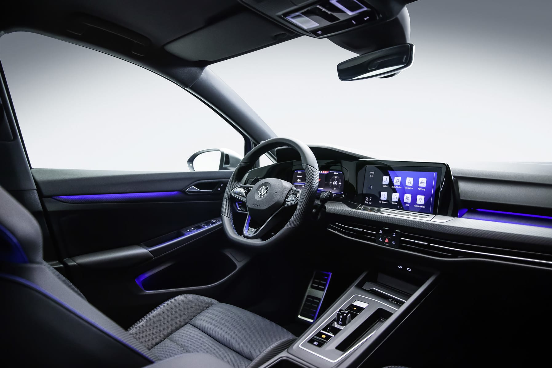 The interior of the new Golf R