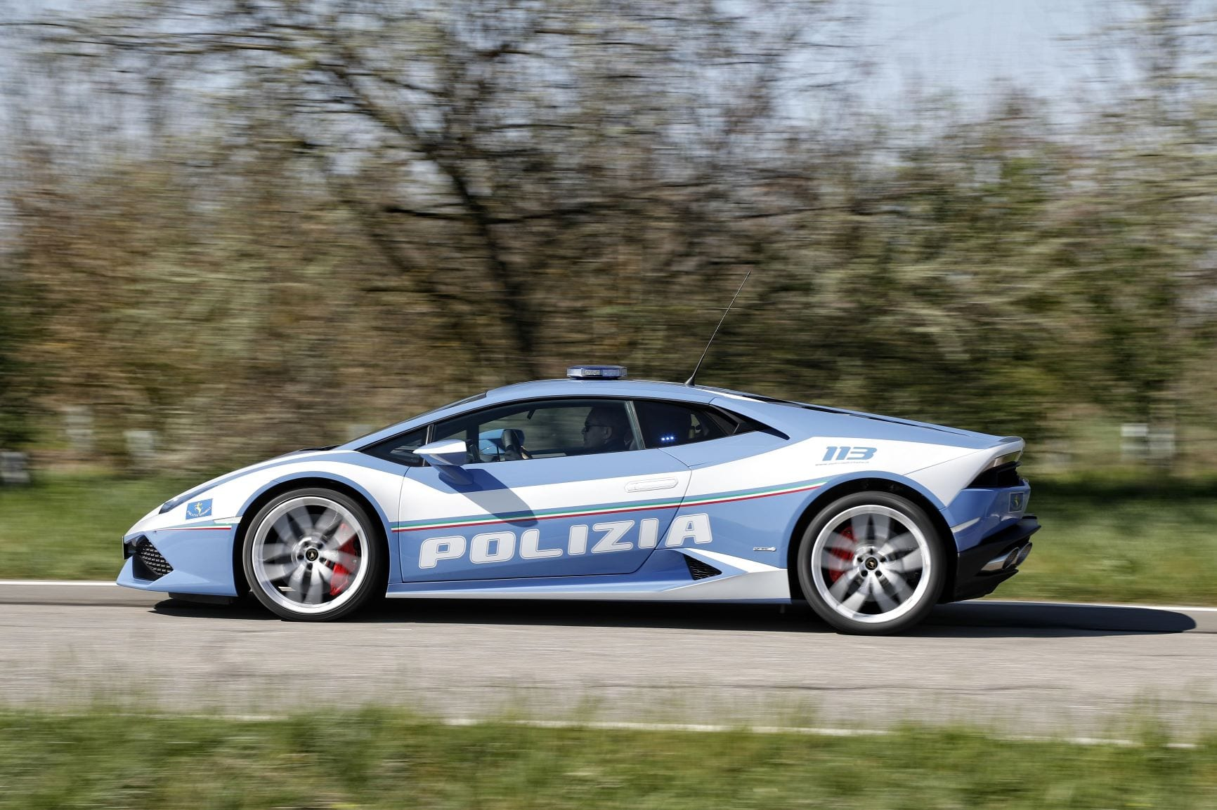 The Lamborghini Huracan in a Police livery