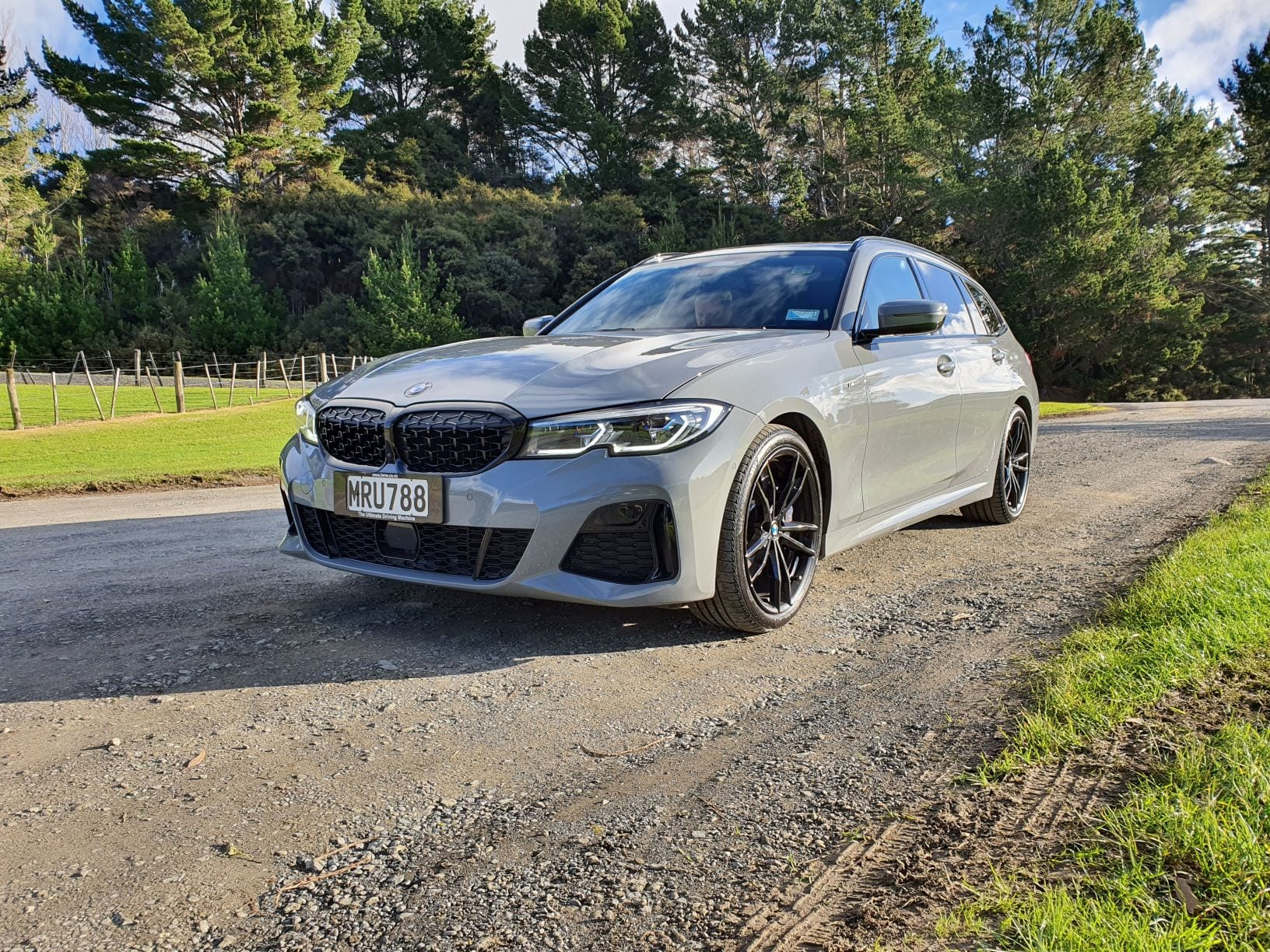 A close up of the M340i