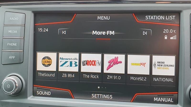 More FM on SEAT Ateca infotainment screen
