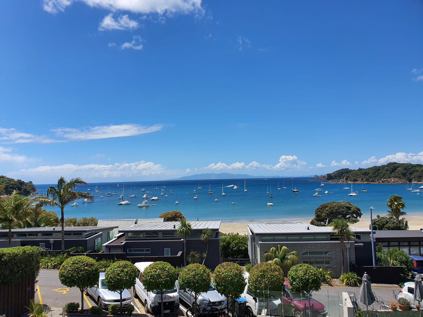 The view from Ocean View Road on Waiheke Island