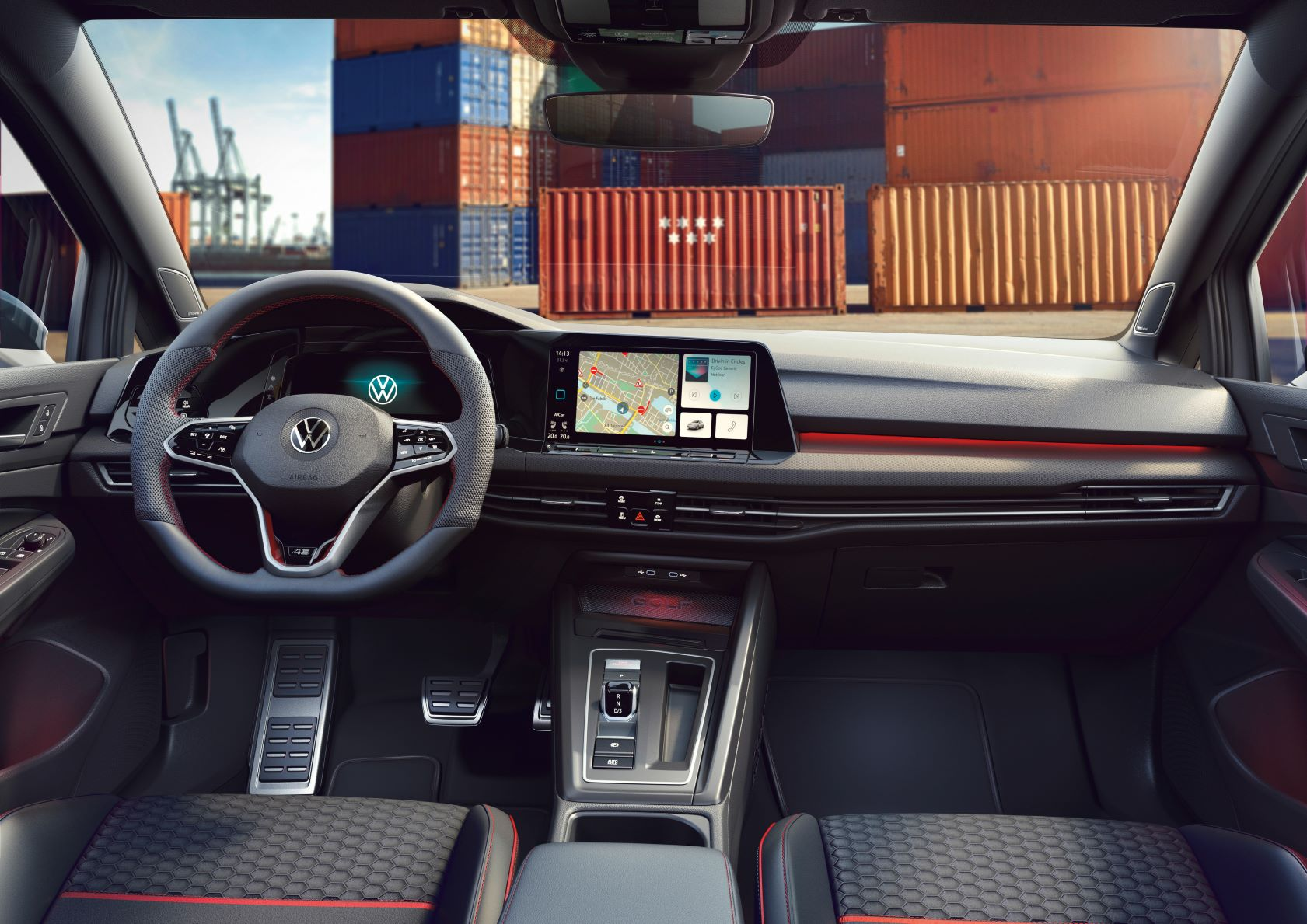 Interior of the new VW Golf GTI edition 45