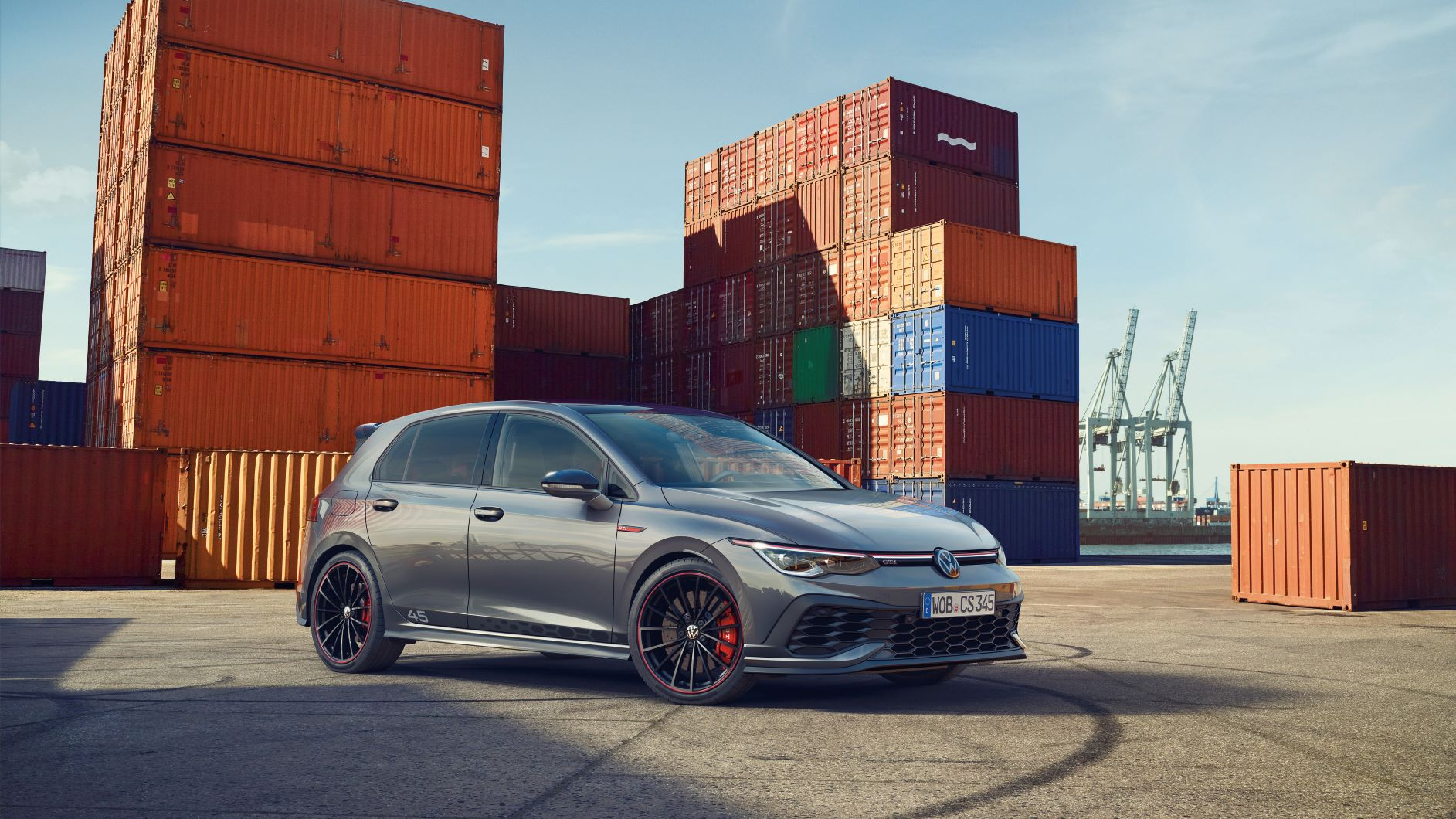 Exterior shot of the edition 45 VW Golf GTI