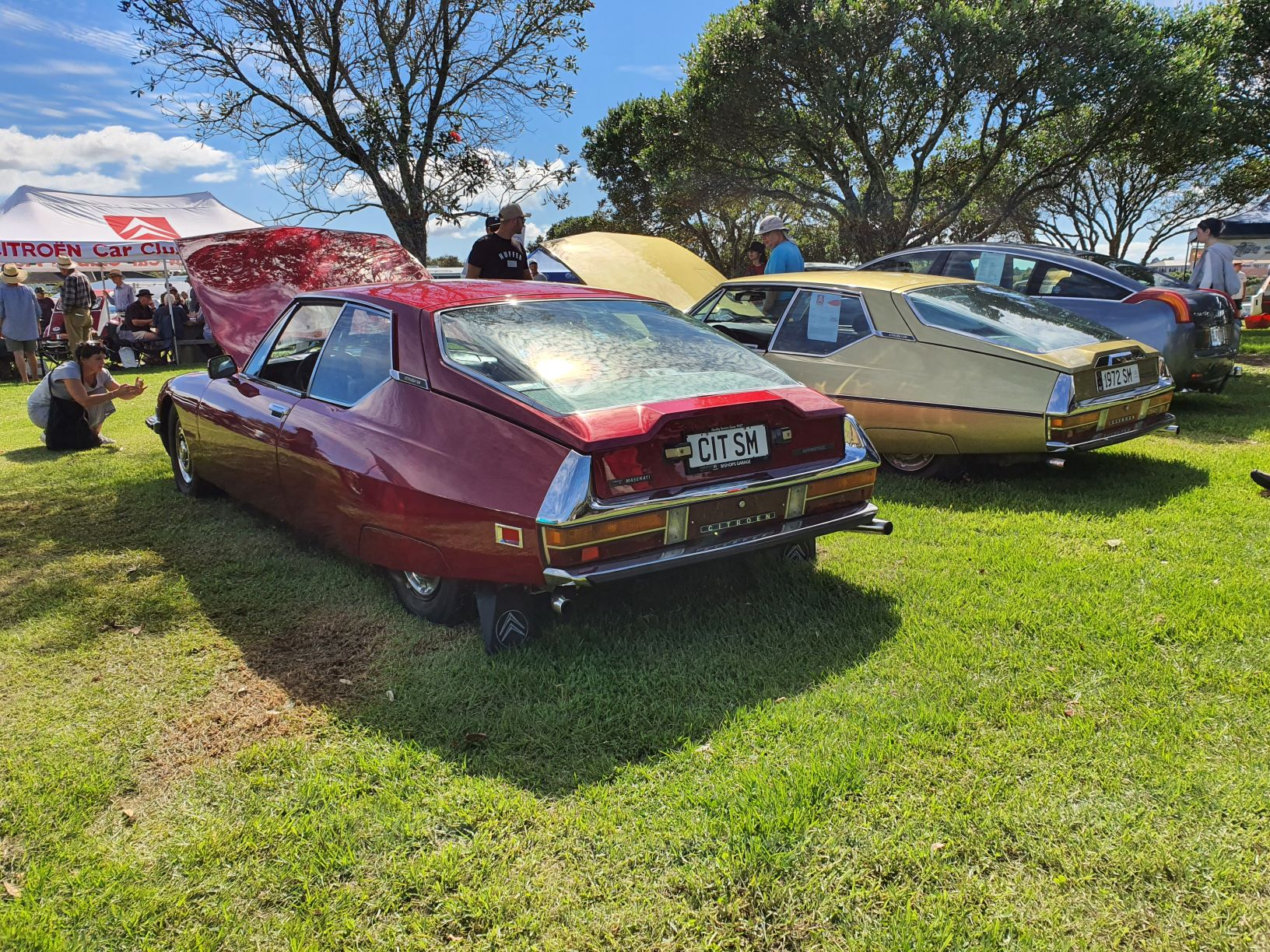 Three Citroen SMs from the 1970s