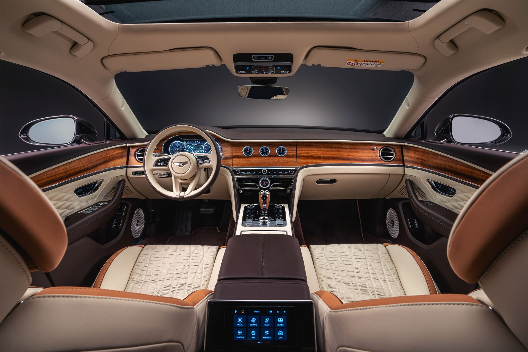 Interior of the Bentley Flying Spur Odyssean Edition