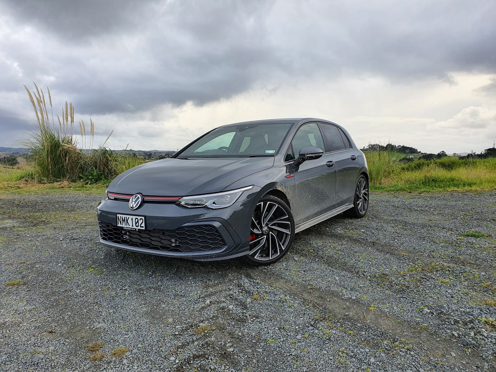A front view of the MK8 GTI
