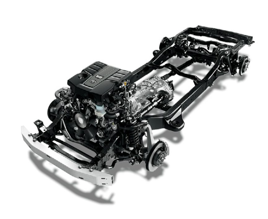 Chassis of the new Toyota Land Cruiser