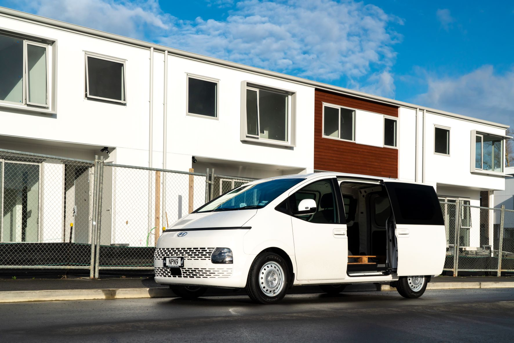 Exterior shot of the Hyundai Staria Load in white