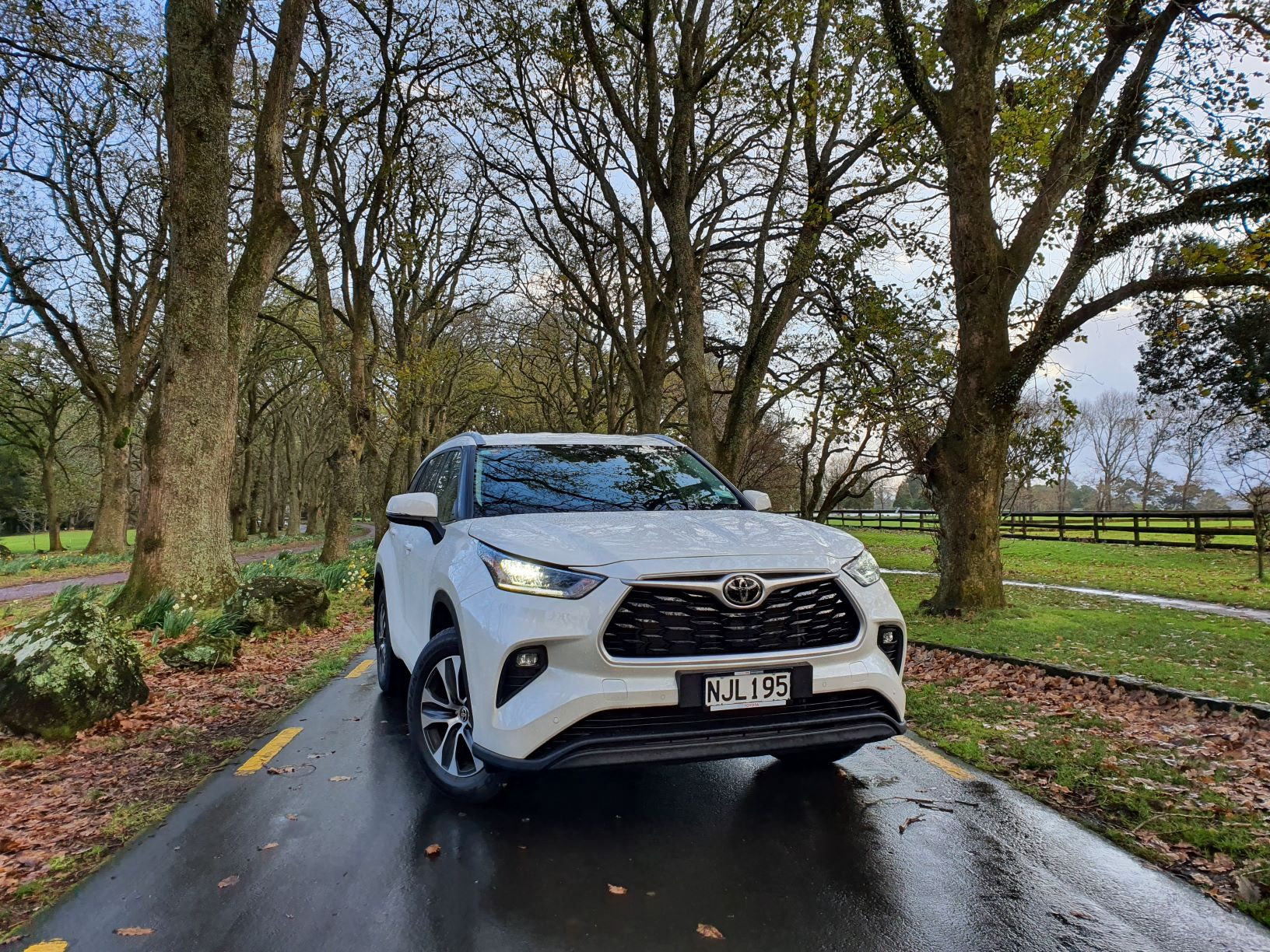 Front view of the 2021 Toyota Highlander Limited