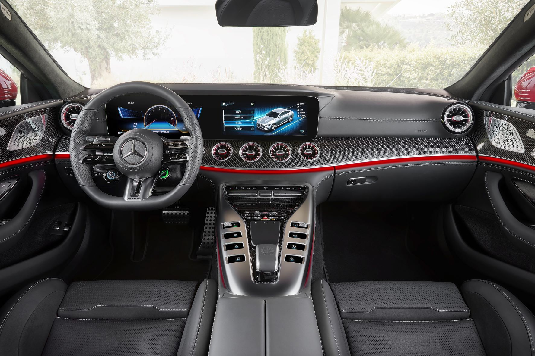 Interior of the Mercedes-AMG E Performance