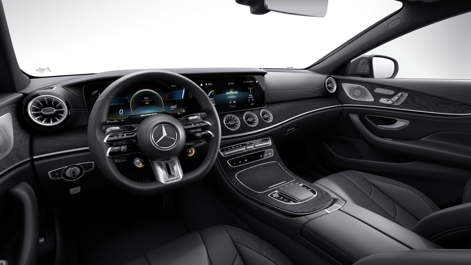 Interior of the Mercedes-AMG CLS53 4MATIC+
