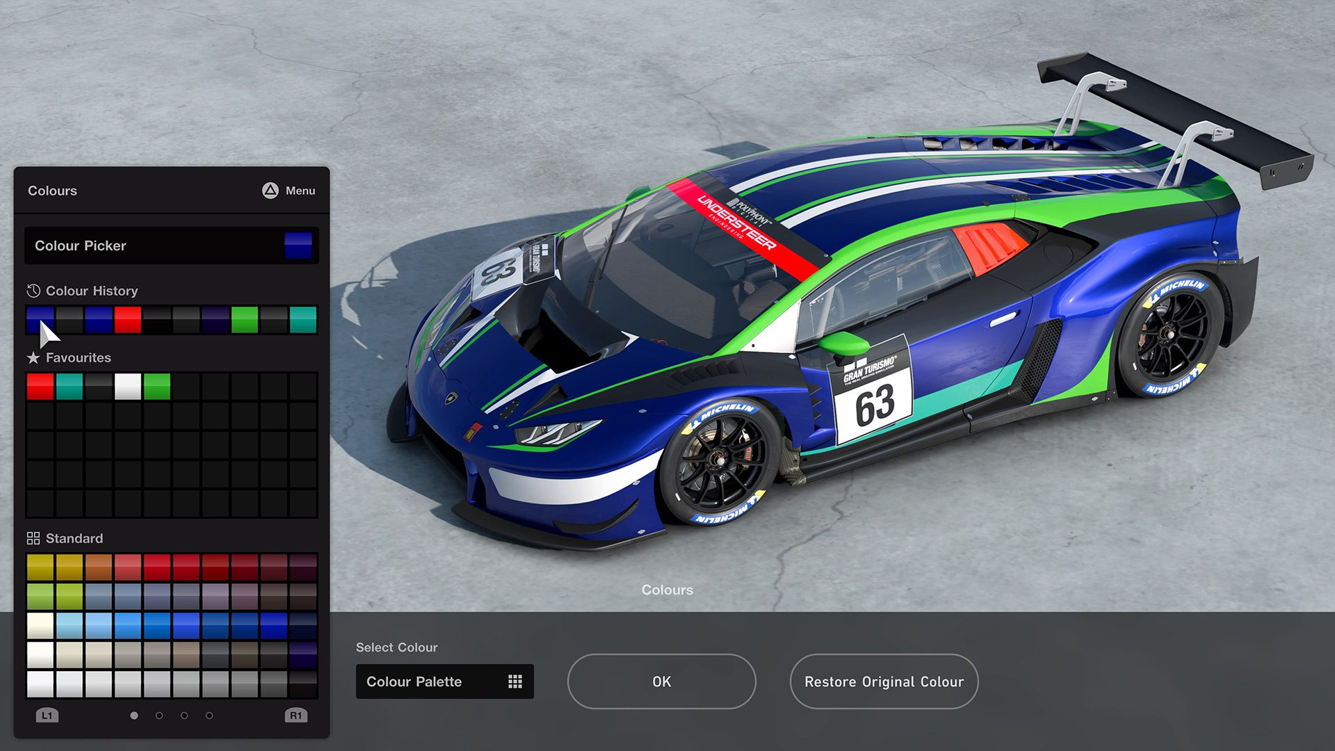 Livery Editor is a new feature in GT7