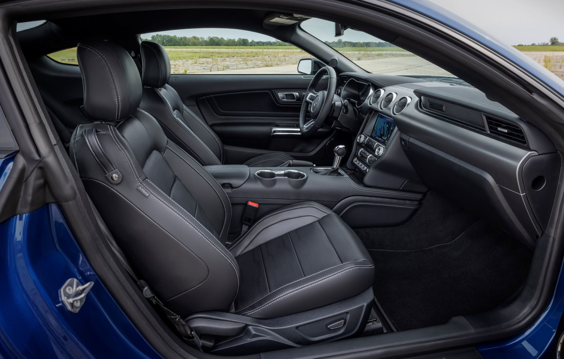 Interior of the 2022 Ford Mustang Stealth Package